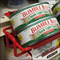 Bumble-Bee Tuna Red Open-Wire Shelf-Edge Tray Aux