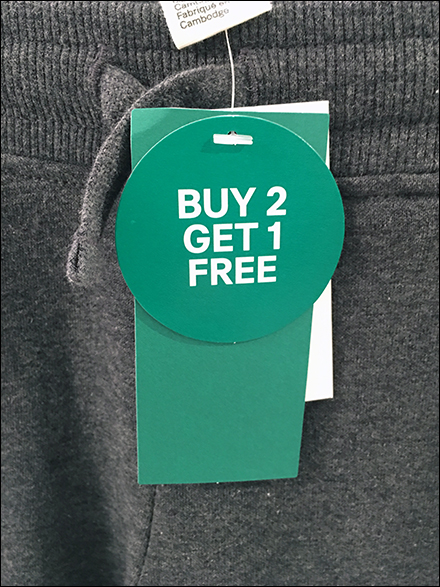BOGO Apparel Merchandise Tag Identifier