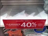 Clearance Shelf-Overlay Shelf-Talker