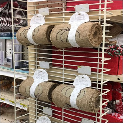 Decorative Burlap PowerWing Display Merchandising