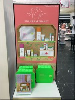Drunk-Elephant Branded Cosmetics Display