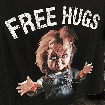 Halloween Chuckie Raglan-Sleeve Baseball T-Shirt Feature