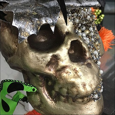 Halloween Bejeweled Skull Fashion Statement