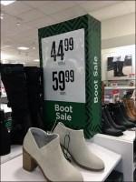 Boot Sale Shoe-Box Dimensional Prop