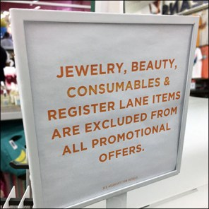 Fashion-Jewelry-Excluded Spinner Warning Sign