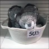 Quilted Bulk-Bin Plush Merchandising