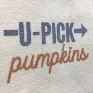 Pick-Pumpkins Felt-Bag Straight-Entry-Hook