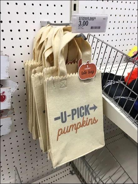 Pick-Pumpkins Felt-Bag Straight-Entry-Hook