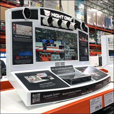 6-Camera Ultra-HD Security Pallet-Rack-Display