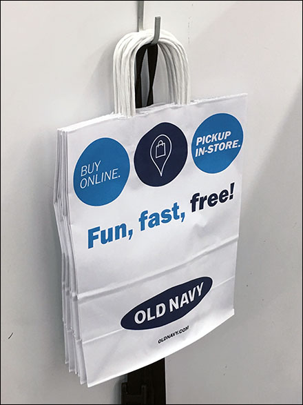 BOPIS Shopping Bag In-Store Promotion