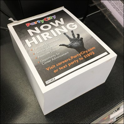 Party-City Halloween-Hiring Takeaway Flyer Feature