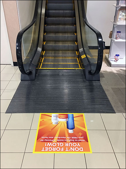 Sephora Free-Facial Escalator Floor Graphic