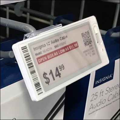 Electronic-Price-Tag Scanning Hook Mount
