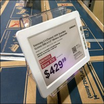 Electronic-Price-Tag High-Rise Acrylic-Easel
