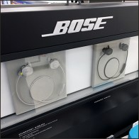 Bose Speaker and Headphone Cabinet Display