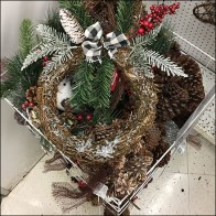 JoAnn's Christmas-Wreath Floorstand Bulk Bin