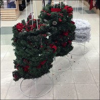JoAnn's Christmas-Wreath Triple Floorstand Stackers