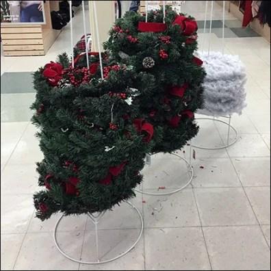 JoAnn's Christmas-Wreath Triple Floorstand Stackers
