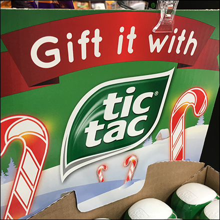 Tic Tac Christmas Gift-It Corrugated Display