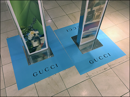 Gucci-Guilty Fragrance Floor Graphic Design