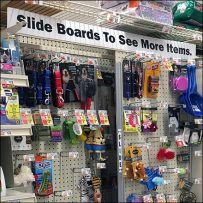 High-Density Sliding Pegboard Inline Display