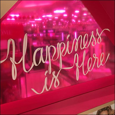 Lancome Happiness-is-Here Tower Display