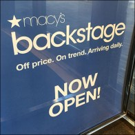 Macys Backstage Lead-Off Entry Sign