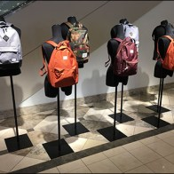 Backpack Store Fixtures - Nordstrom Backpack Parade Visual Merchandising