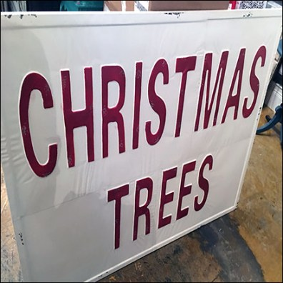 Vintage Christmas-Trees Sign Prop