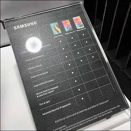 Samsung Galaxy Tablet A8 Pallet Display Aux2
