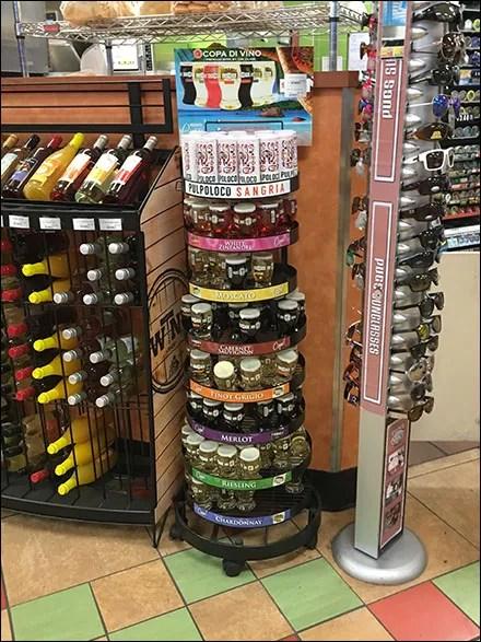 Sheetz Single-Serve Wine Tower Display