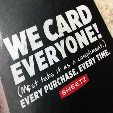 Sheetz We-Card-Everyone Counter Mat