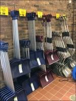 Grab-and-Go Snow Shovel Selection Wall