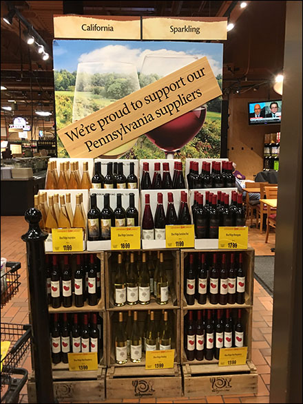 Support-Local-Wineries In-Store Merchandising