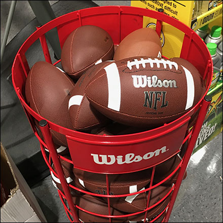 Freestanding Wilson NFL Football Bulk-Bin