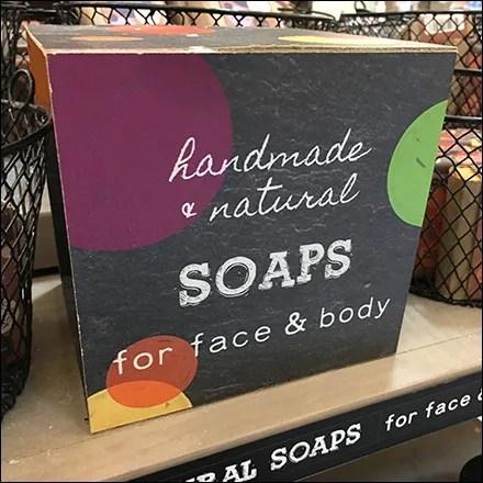 Handmade Natural Soap Die-Cut Display