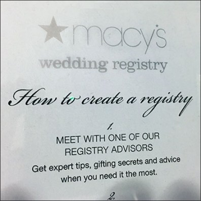 How To Create A Gift Registry Table-Top Guide