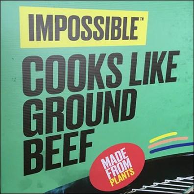 Impossible-Burger Sidewalk Sale Sign
