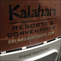 Kalahari-Resort Branded Sanitizer Station