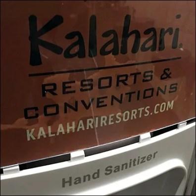 Kalahari-Resort Branded Sanitizer Station