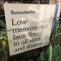 Faux-Flora Succulents Acrylic Tower