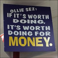 Ollie's Doing-It-For-Money Proposition