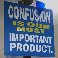 Ollie's Product Confusion Promise Sign