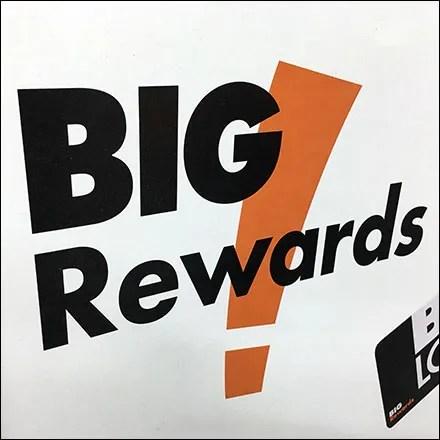 Big-Lots Big-Rewards Sidewalk Sign Promo