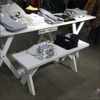 Brandy-Melville Branded Picnic-Table Display