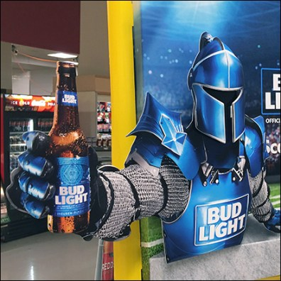 Bud Light Game-Day Goalpost Display