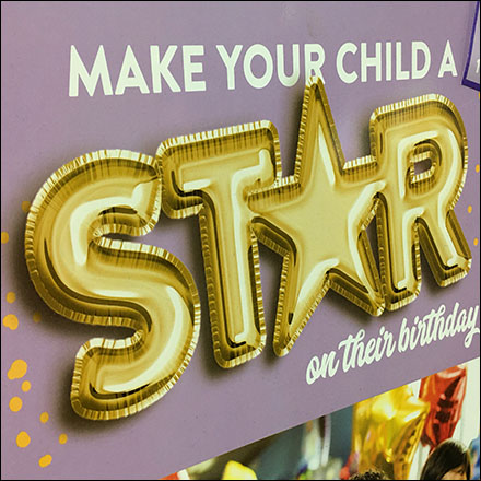 Chuck E Cheese Birthday Star Sign