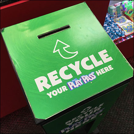 Chuck E Cheese Pass-Card Recycling Drop-Box