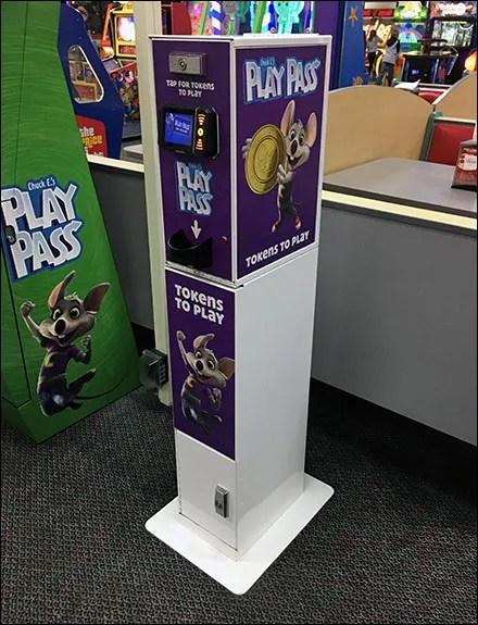 Chuck E Cheese Play Pass Token Dispenser