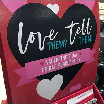 Valentine's Day Love-Them-Tell-Them Card Display